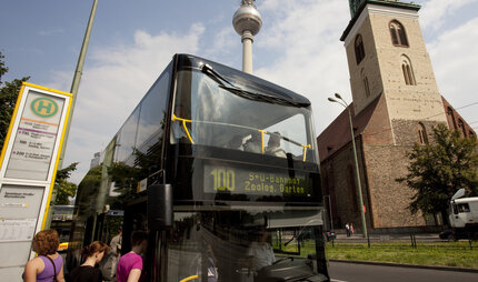 Sightseeing with the Bus 100 in Berlin