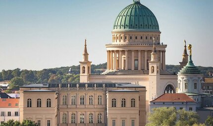 View of Potsdam's historic center with the Museum Barberini