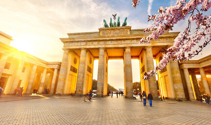 Brandenburg Gate in Berlin in Spring