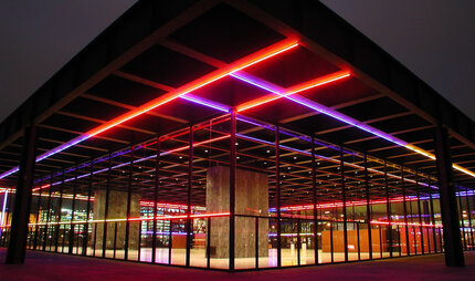 Neue Nationalgalerie at night